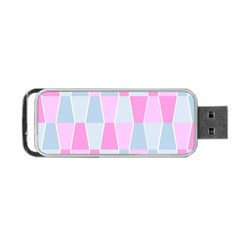 Geometric Pattern Design Pastels Portable Usb Flash (one Side)