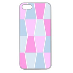 Geometric Pattern Design Pastels Apple Seamless Iphone 5 Case (clear)