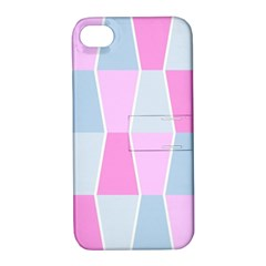 Geometric Pattern Design Pastels Apple Iphone 4/4s Hardshell Case With Stand