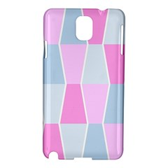 Geometric Pattern Design Pastels Samsung Galaxy Note 3 N9005 Hardshell Case by Samandel