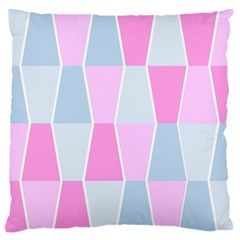 Geometric Pattern Design Pastels Large Flano Cushion Case (one Side) by Samandel