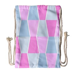 Geometric Pattern Design Pastels Drawstring Bag (large)