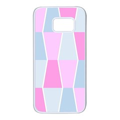 Geometric Pattern Design Pastels Samsung Galaxy S7 White Seamless Case by Samandel