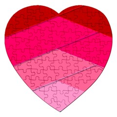 Geometric Shapes Magenta Pink Rose Jigsaw Puzzle (heart) by Samandel