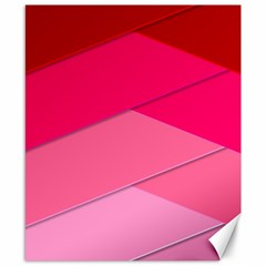 Geometric Shapes Magenta Pink Rose Canvas 8  X 10