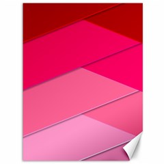 Geometric Shapes Magenta Pink Rose Canvas 36  X 48