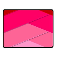 Geometric Shapes Magenta Pink Rose Fleece Blanket (small) by Samandel