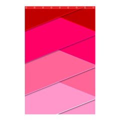 Geometric Shapes Magenta Pink Rose Shower Curtain 48  X 72  (small)  by Samandel