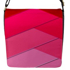 Geometric Shapes Magenta Pink Rose Flap Closure Messenger Bag (s)