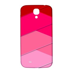 Geometric Shapes Magenta Pink Rose Samsung Galaxy S4 I9500/i9505  Hardshell Back Case