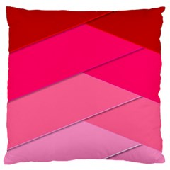 Geometric Shapes Magenta Pink Rose Standard Flano Cushion Case (one Side)