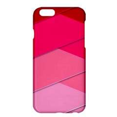 Geometric Shapes Magenta Pink Rose Apple Iphone 6 Plus/6s Plus Hardshell Case by Samandel