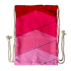 Geometric Shapes Magenta Pink Rose Drawstring Bag (large) by Samandel