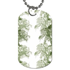 Trees Tile Horizonal Dog Tag (one Side)