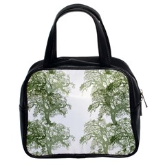 Trees Tile Horizonal Classic Handbag (two Sides)