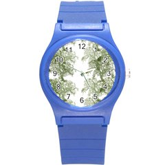 Trees Tile Horizonal Round Plastic Sport Watch (s) by Samandel