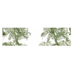 Trees Tile Horizonal Satin Scarf (oblong)