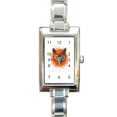Cat Smart Design Pet Cute Animal Rectangle Italian Charm Watch by Samandel