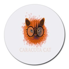 Cat Smart Design Pet Cute Animal Round Mousepads