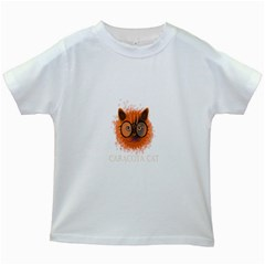 Cat Smart Design Pet Cute Animal Kids White T Shirts