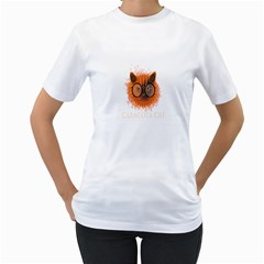 Cat Smart Design Pet Cute Animal Women s T Shirt (white)