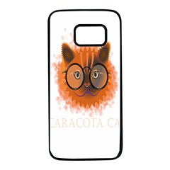 Cat Smart Design Pet Cute Animal Samsung Galaxy S7 Black Seamless Case