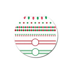Christmas Borders Frames Holiday Magnet 3  (round)