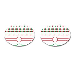 Christmas Borders Frames Holiday Cufflinks (oval)