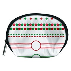 Christmas Borders Frames Holiday Accessory Pouch (medium)