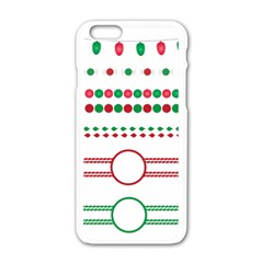 Christmas Borders Frames Holiday Apple Iphone 6/6s White Enamel Case
