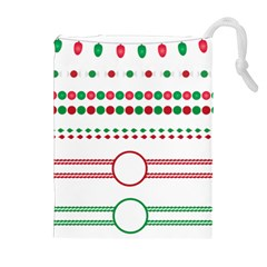 Christmas Borders Frames Holiday Drawstring Pouch (xl)