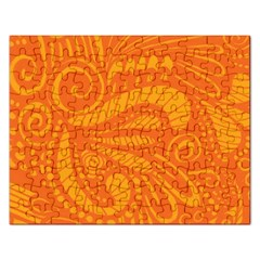 Pop Orange Rectangular Jigsaw Puzzl by ArtByAmyMinori