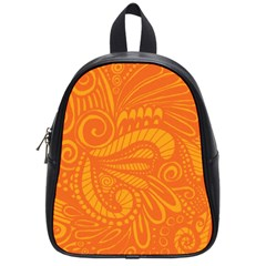 Pop Orange School Bag (small) by ArtByAmyMinori