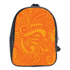 Pop Orange School Bag (xl) by ArtByAmyMinori