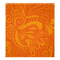 Pop Orange Shower Curtain 66  X 72  (large)  by ArtByAmyMinori