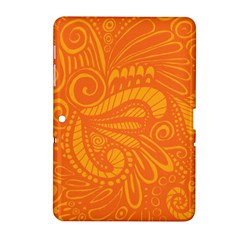 Pop Orange Samsung Galaxy Tab 2 (10 1 ) P5100 Hardshell Case  by ArtByAmyMinori