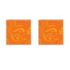 Pop Orange Cufflinks (square) by ArtByAmyMinori