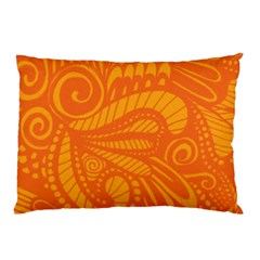 Pop Orange Pillow Case by ArtByAmyMinori