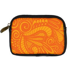 Pop Orange Digital Camera Leather Case