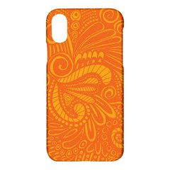 Pop Orange Apple Iphone X Hardshell Case