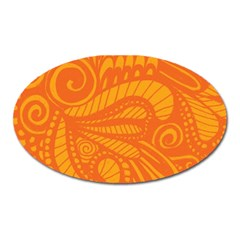 Pop Orange Oval Magnet by ArtByAmyMinori