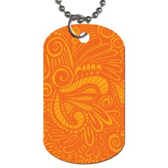 Pop Orange Dog Tag (one Side) by ArtByAmyMinori