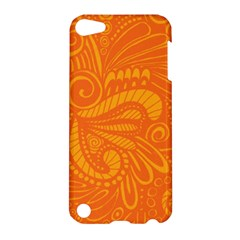 Pop Orange Apple Ipod Touch 5 Hardshell Case by ArtByAmyMinori