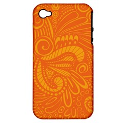 Pop Orange Apple Iphone 4/4s Hardshell Case (pc+silicone) by ArtByAmyMinori