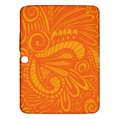 Pop Orange Samsung Galaxy Tab 3 (10 1 ) P5200 Hardshell Case  by ArtByAmyMinori