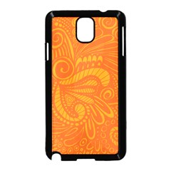 Pop Orange Samsung Galaxy Note 3 Neo Hardshell Case (black) by ArtByAmyMinori