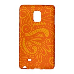 Pop Orange Samsung Galaxy Note Edge Hardshell Case by ArtByAmyMinori