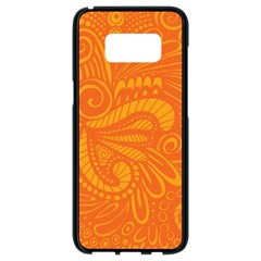 Pop Orange Samsung Galaxy S8 Black Seamless Case by ArtByAmyMinori