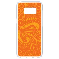 Pop Orange Samsung Galaxy S8 White Seamless Case