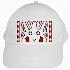 Traditional Art Torajan Pattern White Cap by Samandel